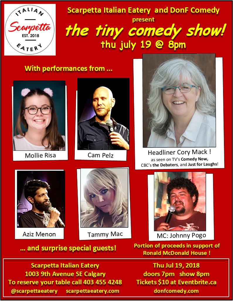 tiny comedy show - July 19, 2018