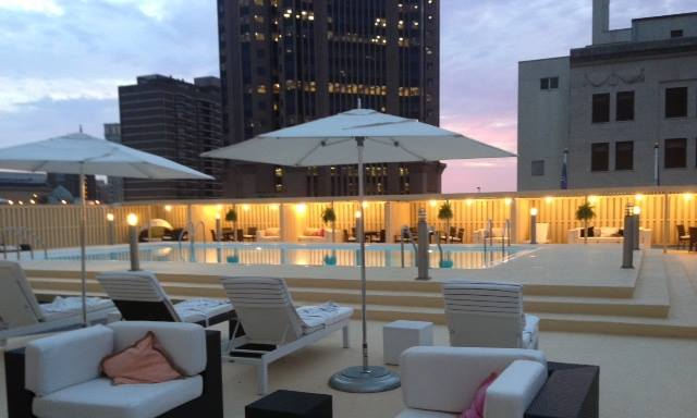 Melia Hotel's Pool on the Rooftop
