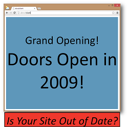 Grand Opening 2009 Outdated Website