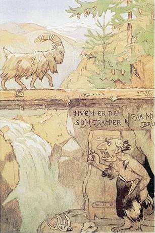 Gerhard Munthe's troll illustration, now in the public domain.
