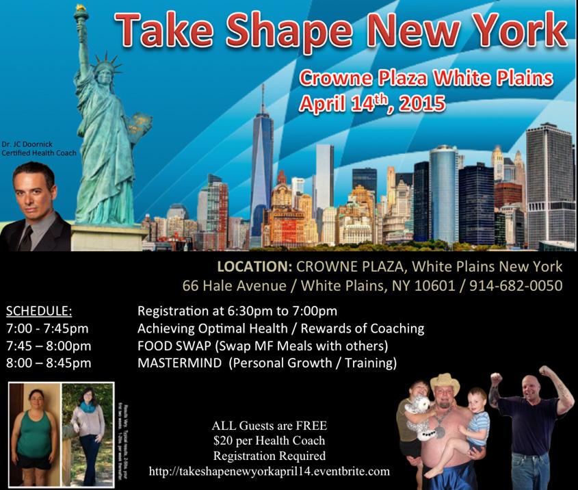 Take Shape New York April 14