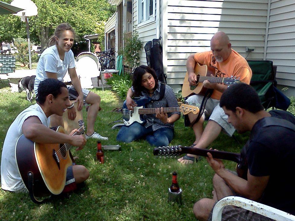 Jam session with Nayla and Joel Jimenez