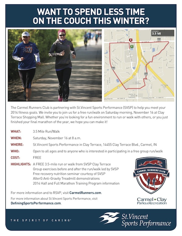 St vincent sports performance run walk education day for 14455 clay terrace blvd carmel in 46032