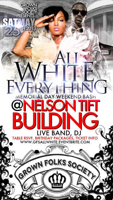 All White Memorial Day Weekend Bash