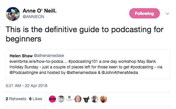 Anne O Neill Tweet