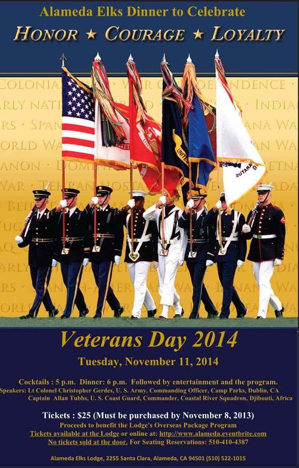 2014 Veterans Dinner - November 11th @ 5pm!