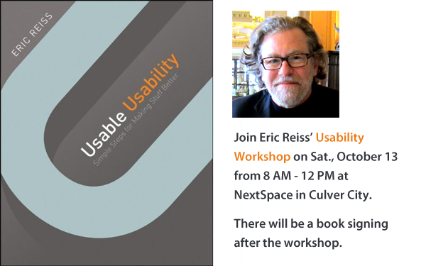 Eric Reiss Usability Workshop in Los Angeles