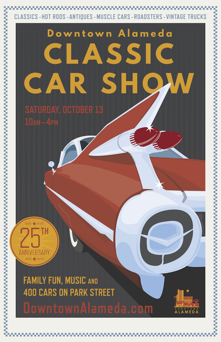 Downtown Alameda 25th Anniversary Classic Car Show poster
