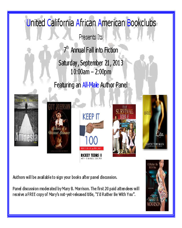 2013 Fall into Fiction Event Flyer