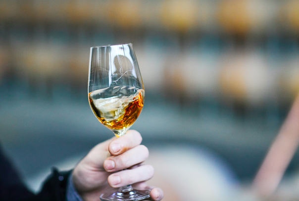 Tasting whisky in Port Melbourne