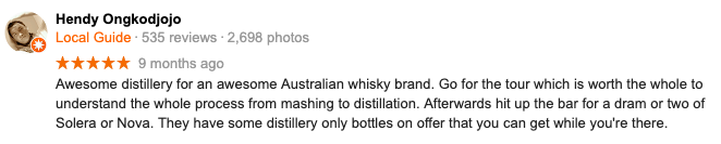 Take a whisky tour and tasting in our Melbourne distillery