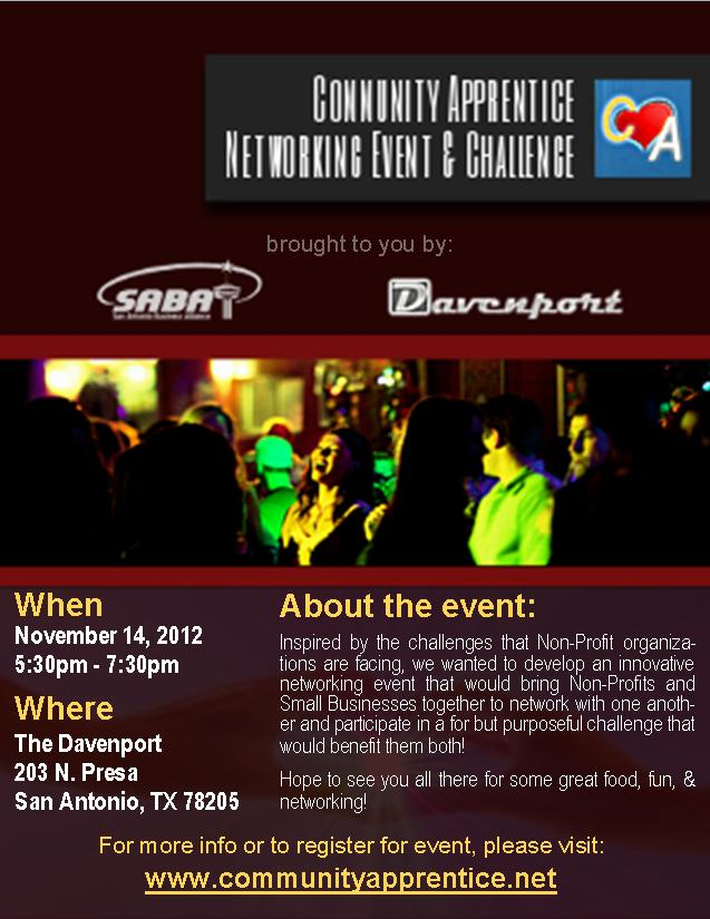 Community Apprentice Event Flyer