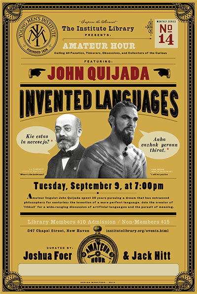 John Quijada and Ithkuil at the Institute Library