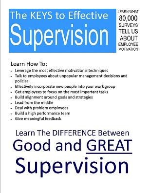 Supervisor training flyer