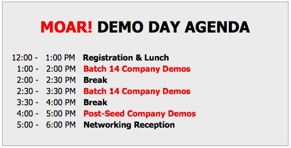 Demo Day Schedule