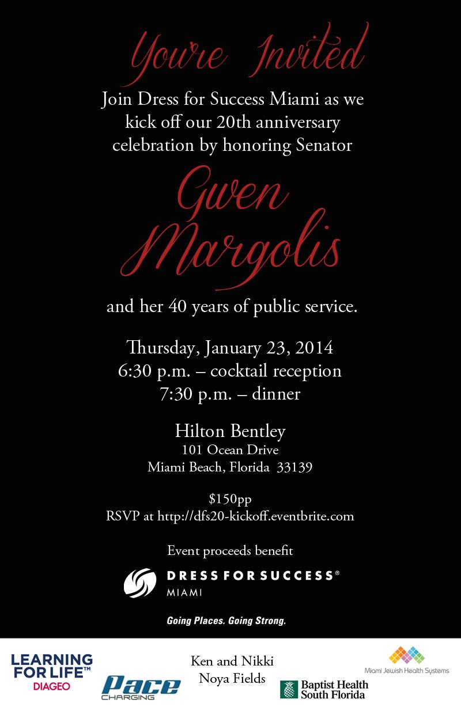 Dress for Success Miami - Margolis event invitation