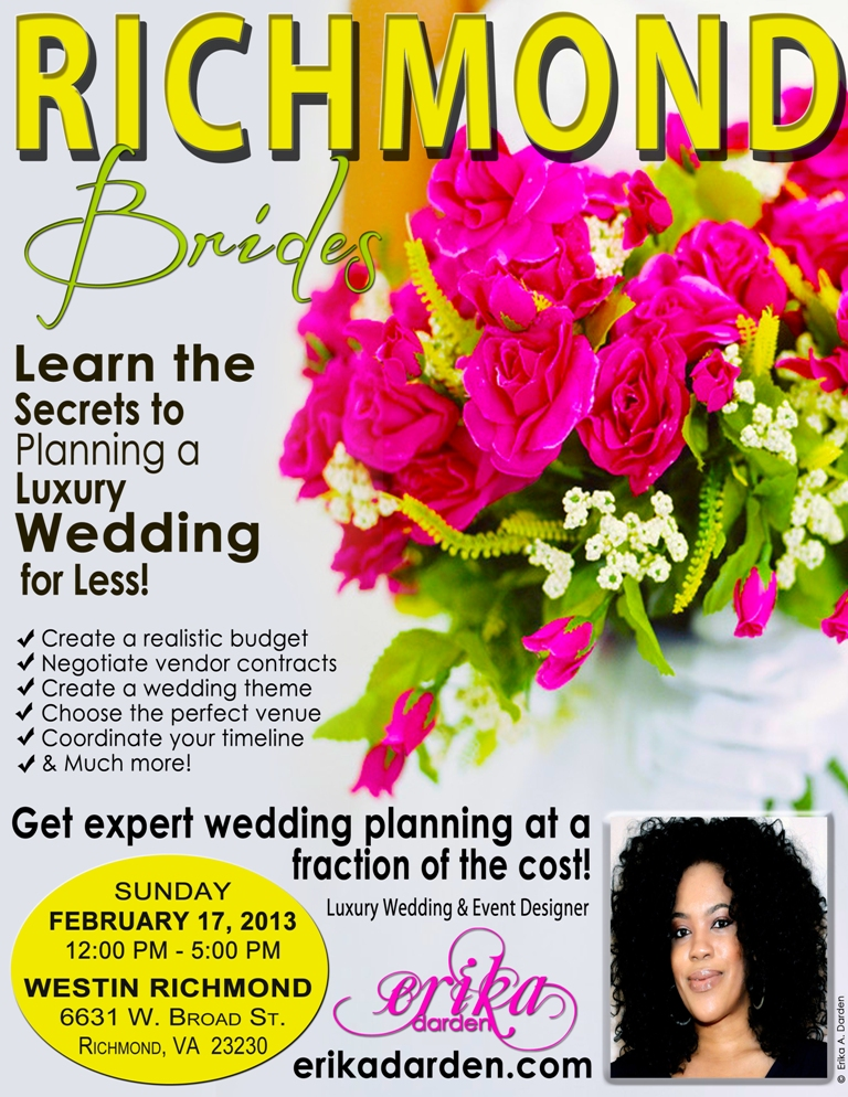 Richmond VA Wedding Planning Workshop