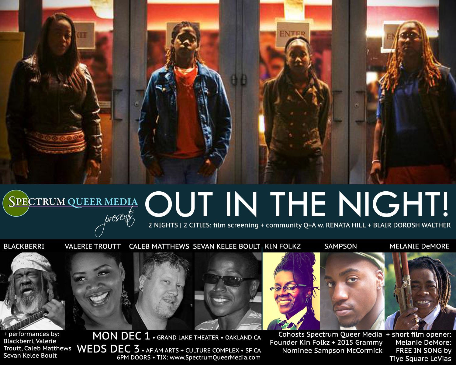 Spectrum Queer Media presents OUT IN THE NIGHT