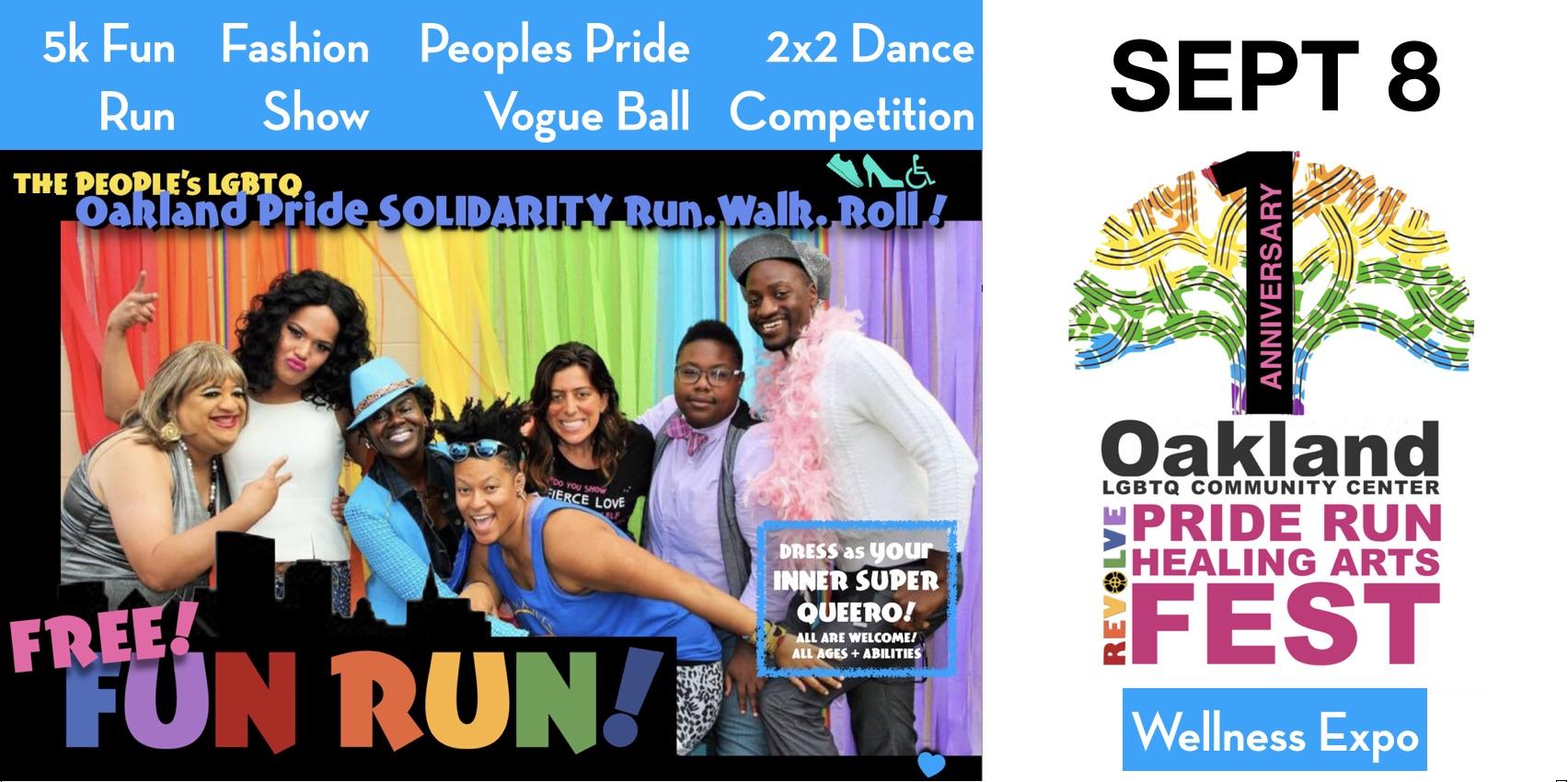 People's Oakland Pride Fun Run + Healing Arts Expo