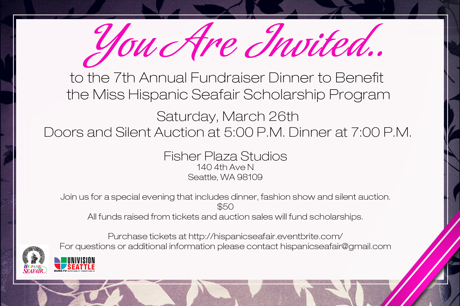 Miss Hispanic Seafair Fundraising Dinner Fashion Show And