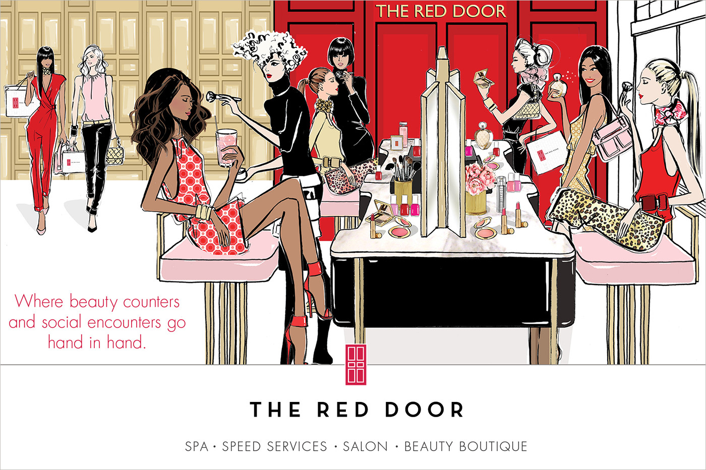 The Red Door Spa Print Sale