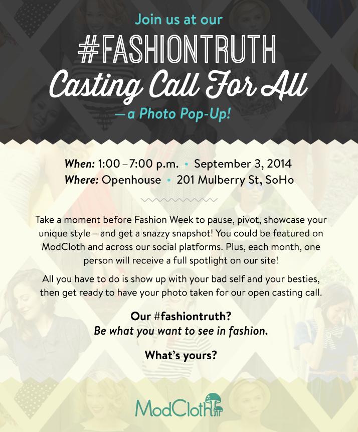ModCloth Event Invite