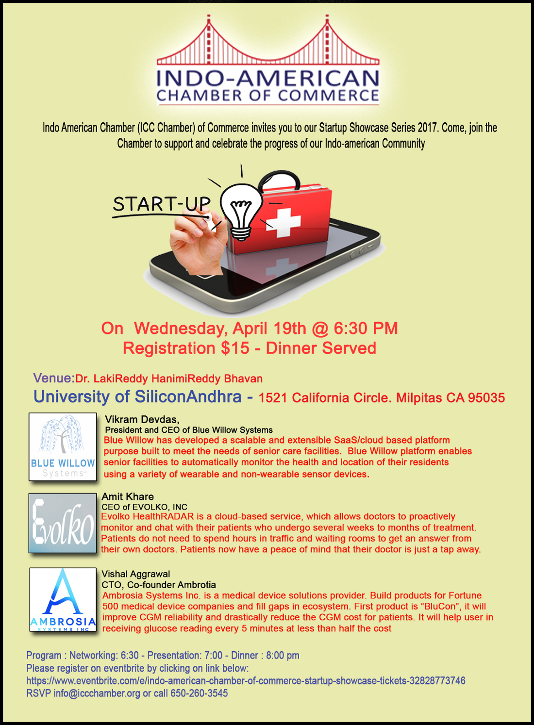 Indo american chamber of commerce startup showcase for American chambre of commerce
