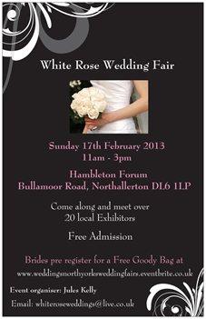 wedding fair flyer