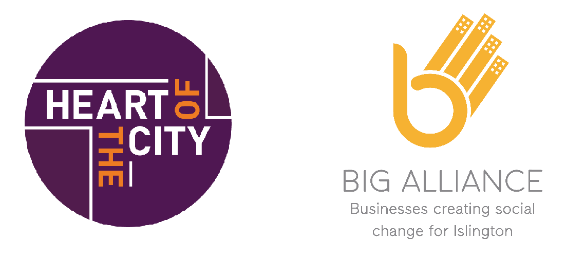 Heart of the City logo and big alliance logo