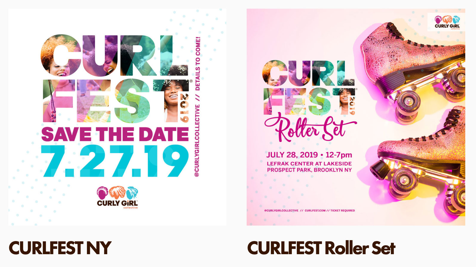 CURLFEST Weekend Flyers