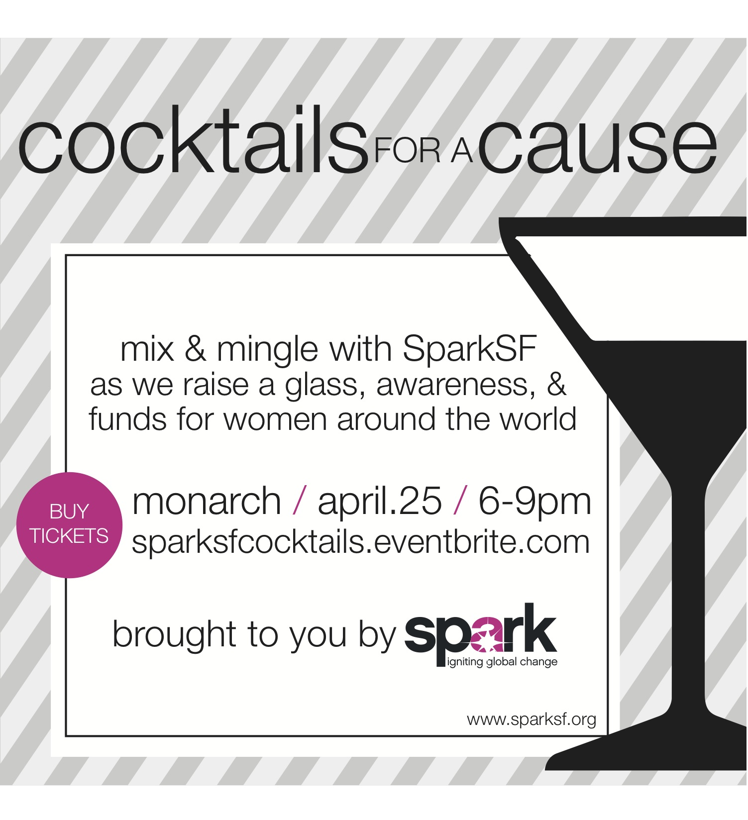 SparkSF Cocktails For A Cause April 25th 6pm - 9pm