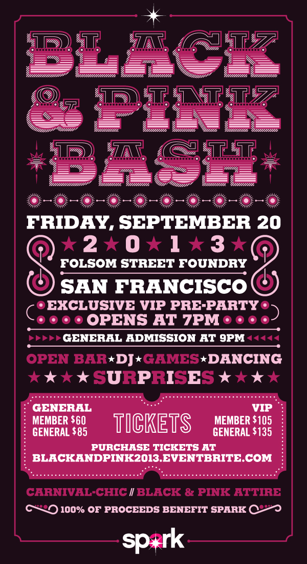 Spark's Black & Pink Bash - September 20th, 2013 @Folsom Street Foundry