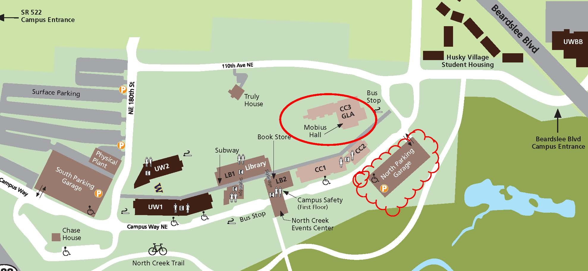 UW Bothell Campus Map