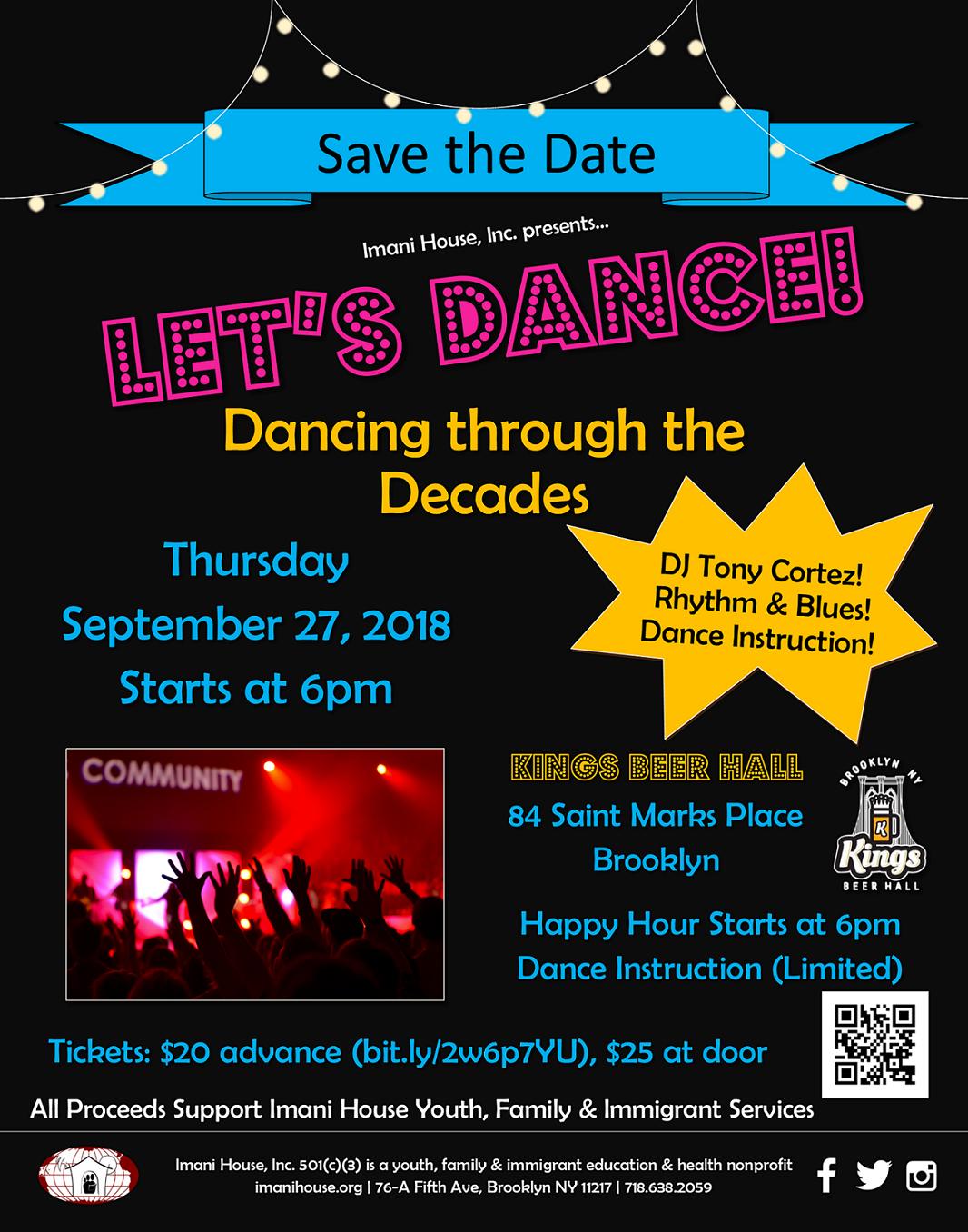 Let's Dance Sept 27, 2018 - Imani House