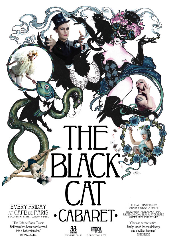 Black Cat Cabaret 2013 April Poster