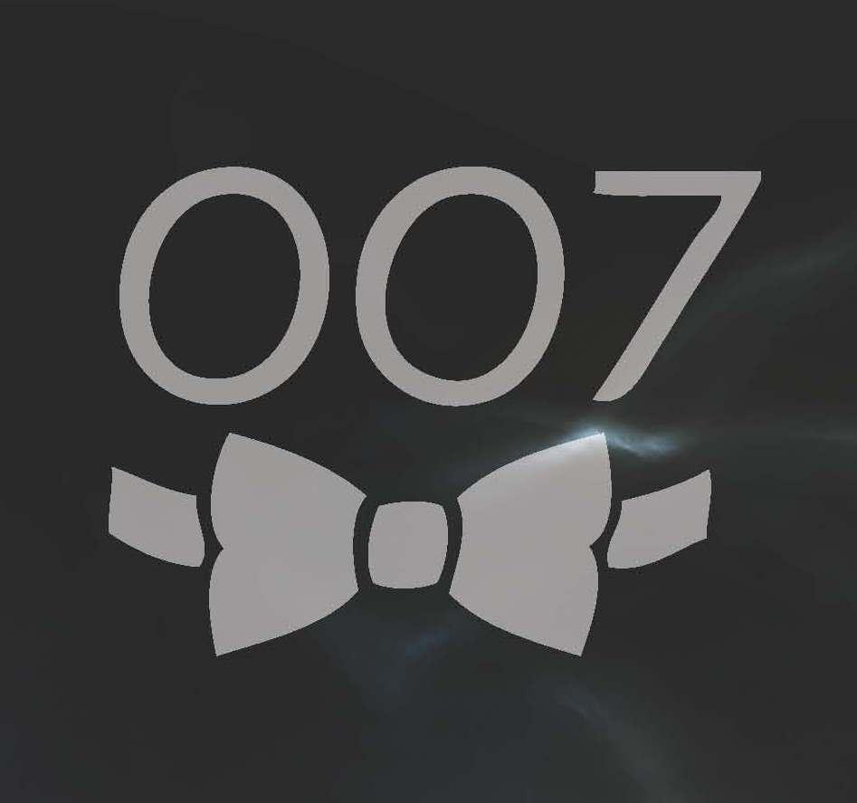 007 Bow Tie B&W