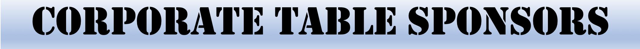 Corporate Table Sponsors Header