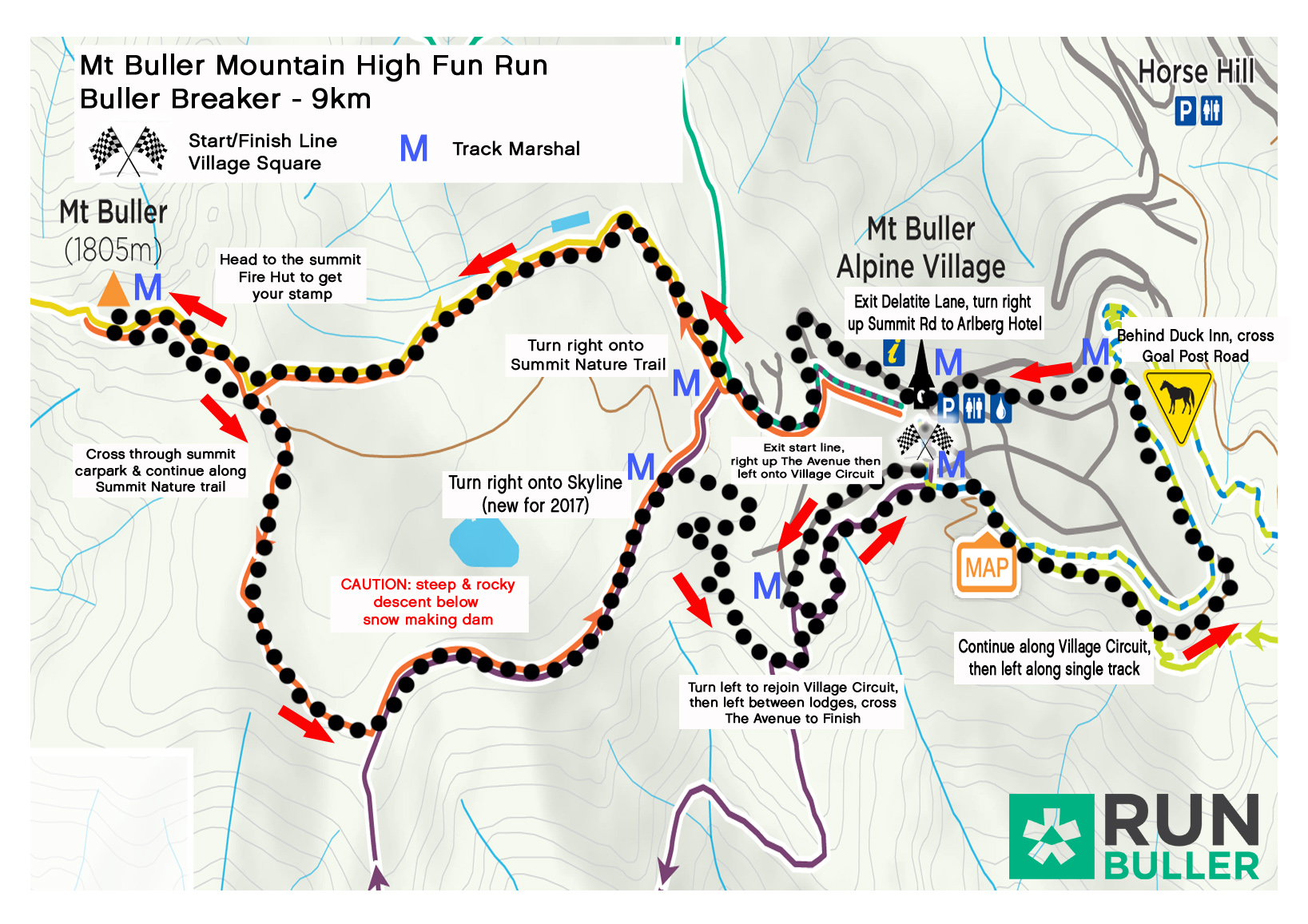 2017 Buller Breaker Course map