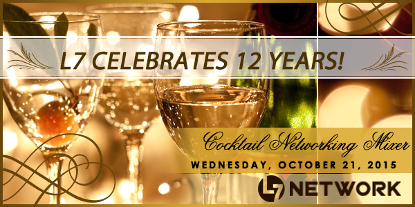 L7 Network 12 year anniversary business cocktail party