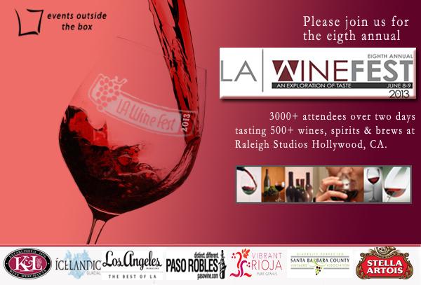 LA Wine fest 2013 discount tickets