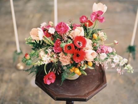 Freckled Floral Centerpiece