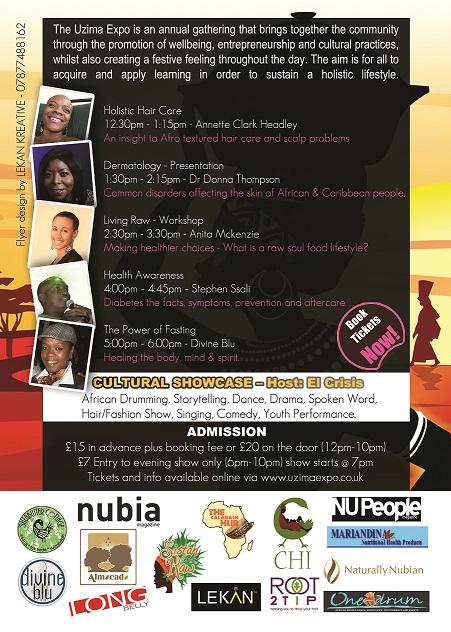 Uzima Expo 2013 flyer back