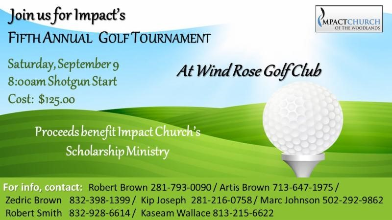 Golf 2017 Flyer Impact Church Of The Woodlands