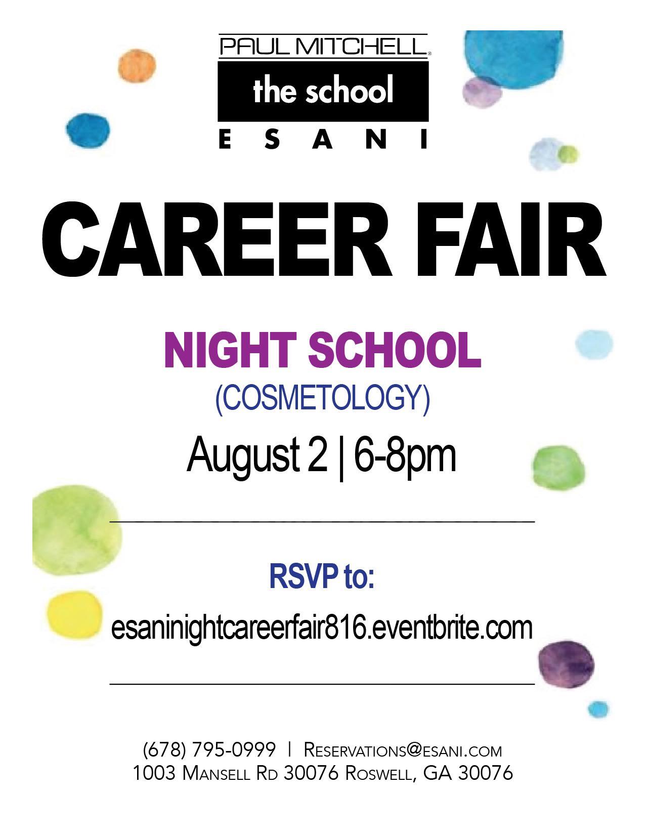 Night Career Fair Flyer