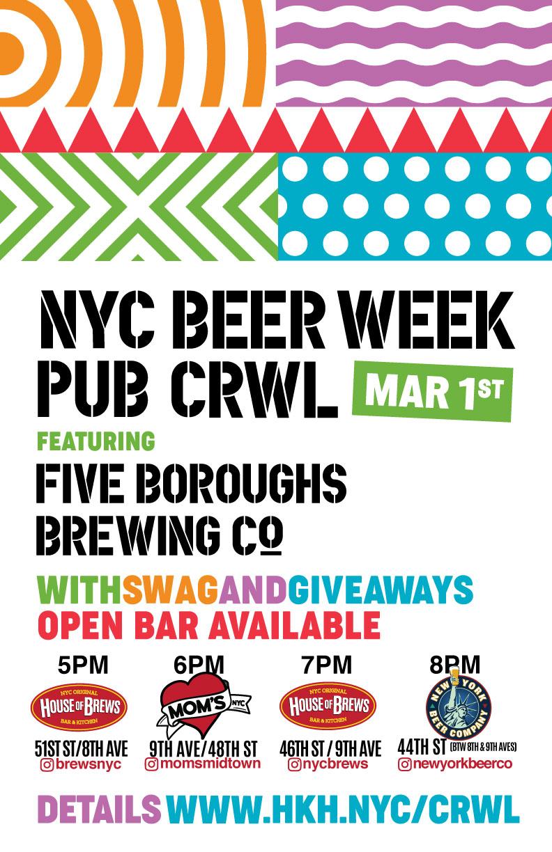 NYC Beer Week Pub Crawl