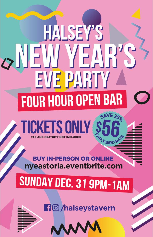 astoria new years eve open bar