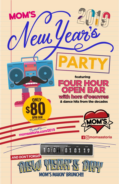 New Yea'rs Eve Open Bar Astoria