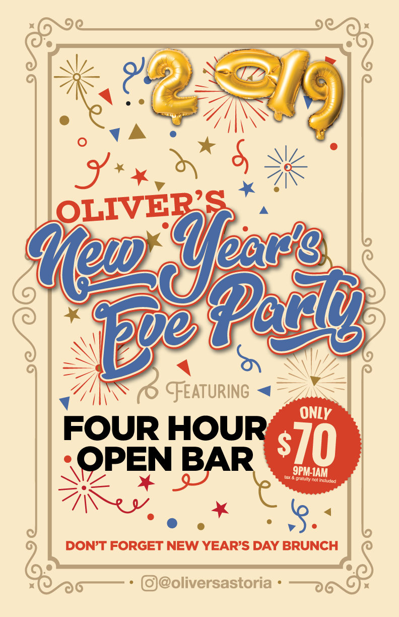 astoria new years eve open bar