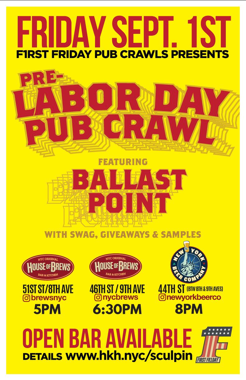 nyc labor day pub crawl