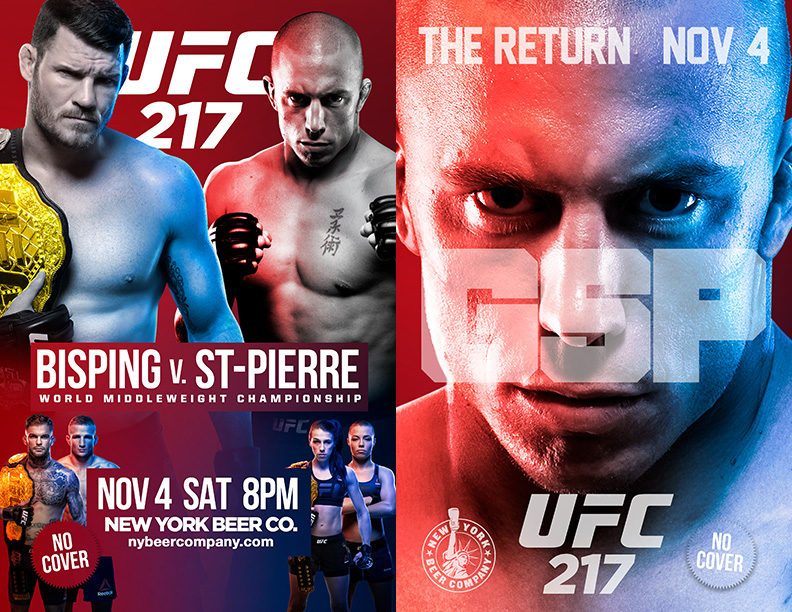 Watch UFC 217 NYC NO Cover